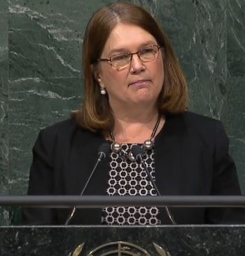 Health Minister Jane Philpott at the UNGASS meeting in New York